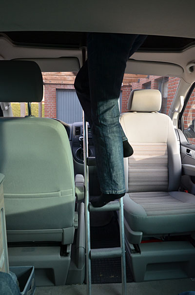 Vw T5 T6 California Campingzubeh 246 R Ladder For Roofbed