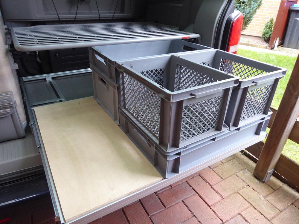 calidrawer ocean heckauszug vw t6 california t. Black Bedroom Furniture Sets. Home Design Ideas
